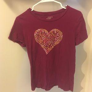 pink heart t shirt